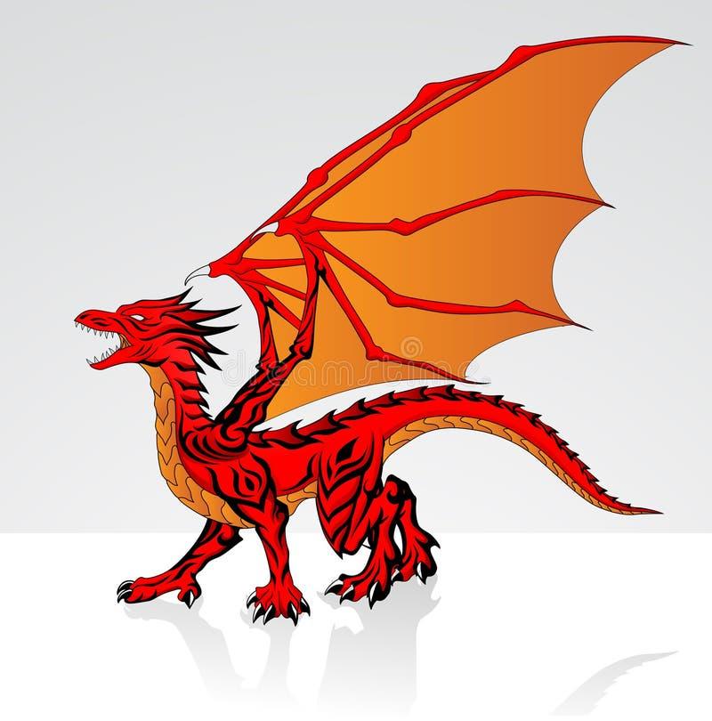 Red Dragon royalty free illustration