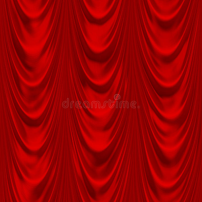 Red drapery royalty free illustration