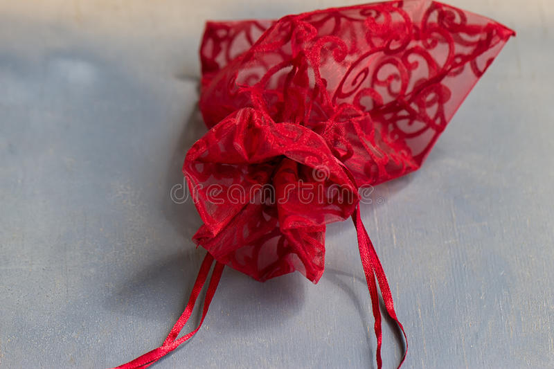 Download Red drawstring bag stock photo. Image of gift, hold, isolated - 96632468