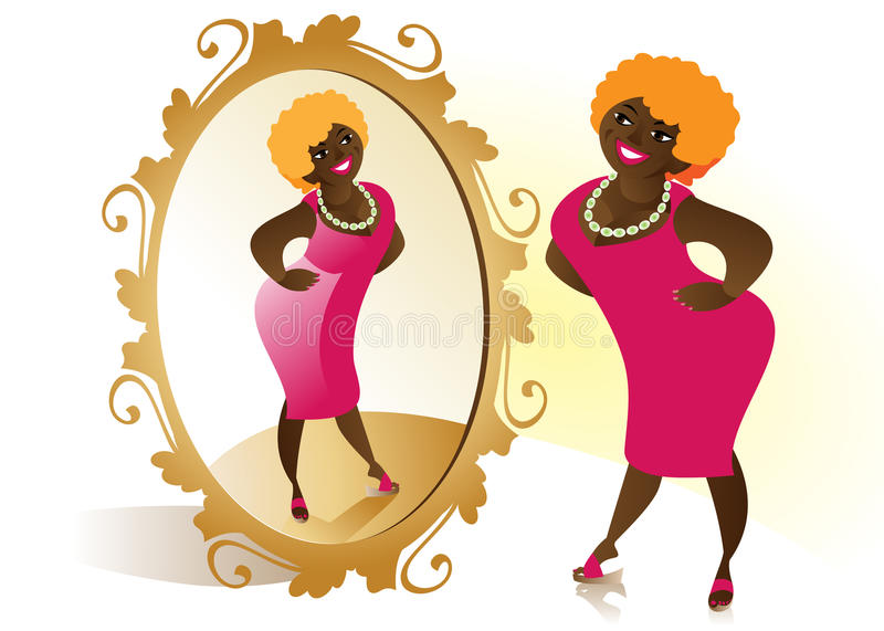 Download Red dress stock vector. Image of african, model, apparel - 15107292