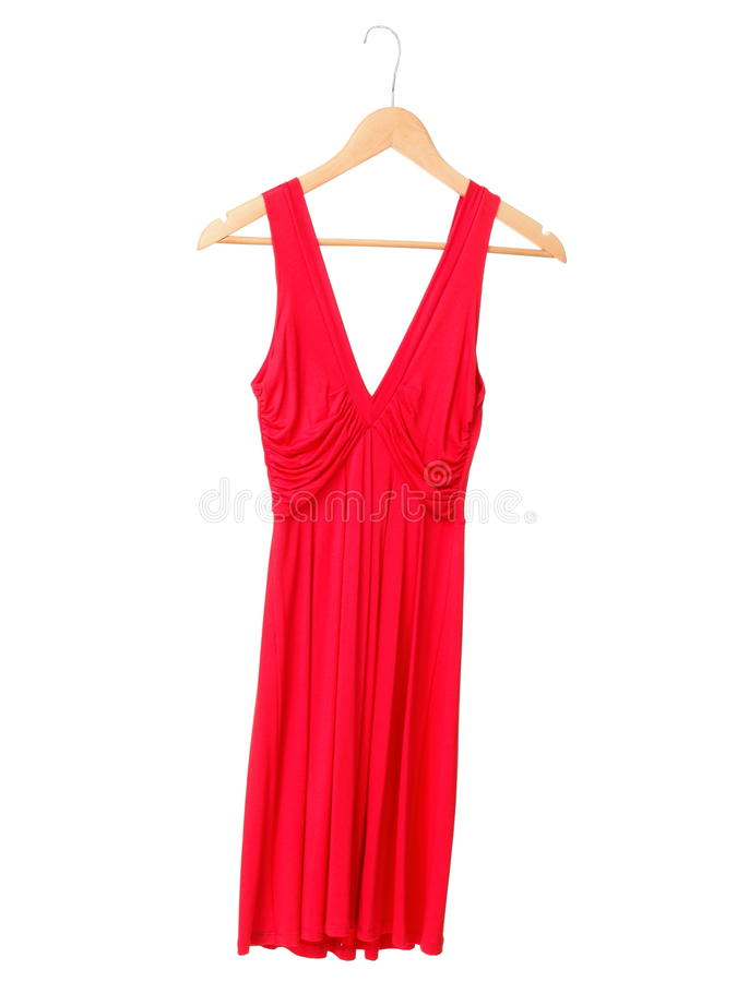 Red dress isolated on white stock images