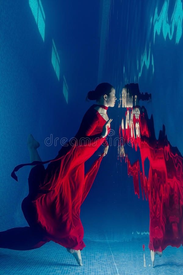 Free Red Dress Underwater Royalty Free Stock Photo - 58049225