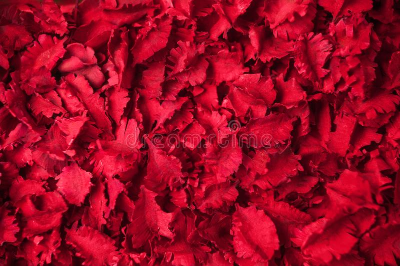 Red dried flowers aromatherapy potpourri background.  stock photos