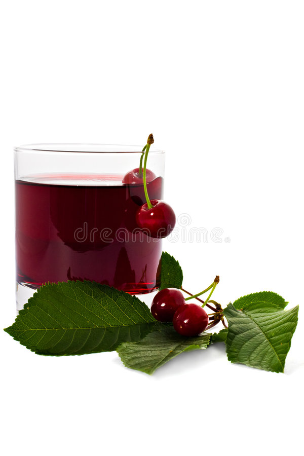 Red drink and cherry stock images
