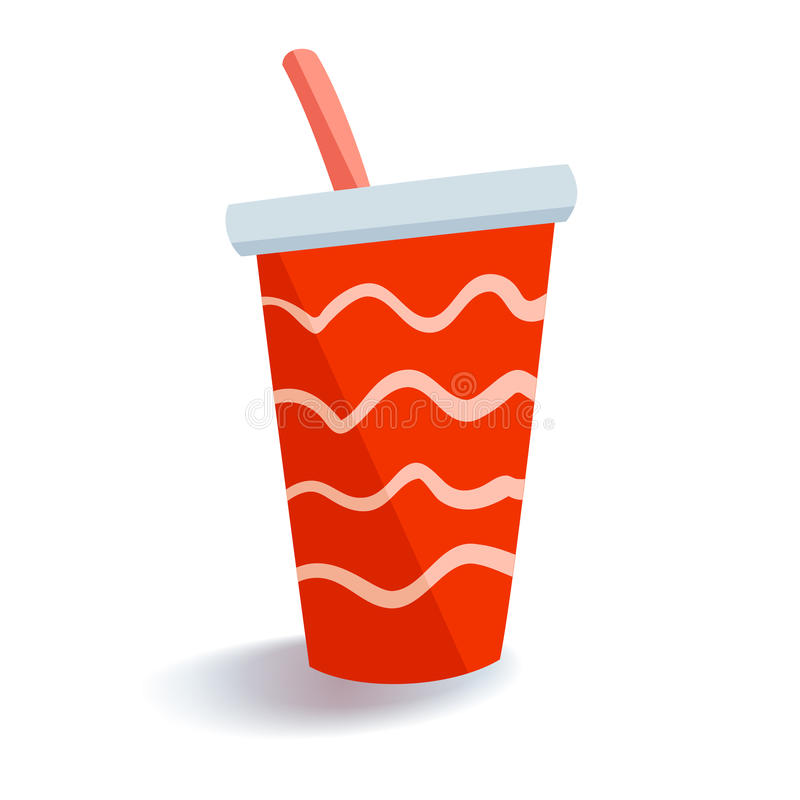 A red drink cup royalty free illustration