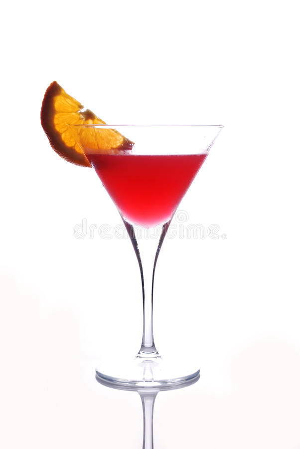 Download Red drink in martini glass stock photo. Image of slice - 16089212