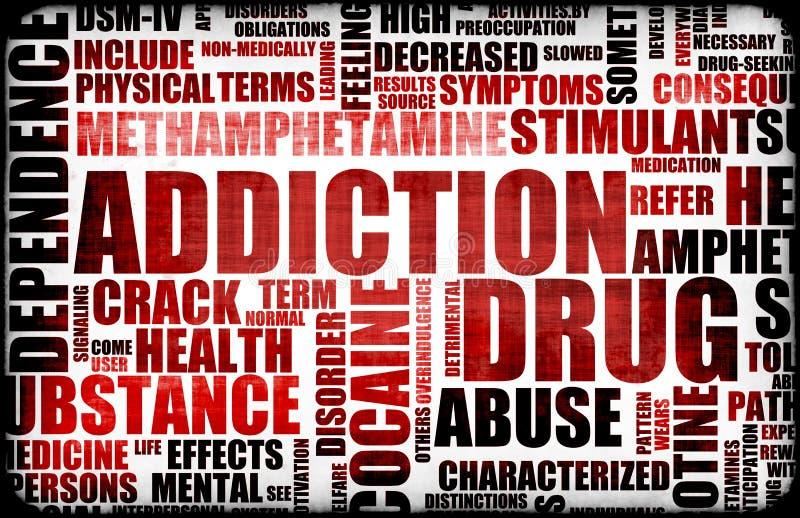 Red Drug Addiction vector illustration