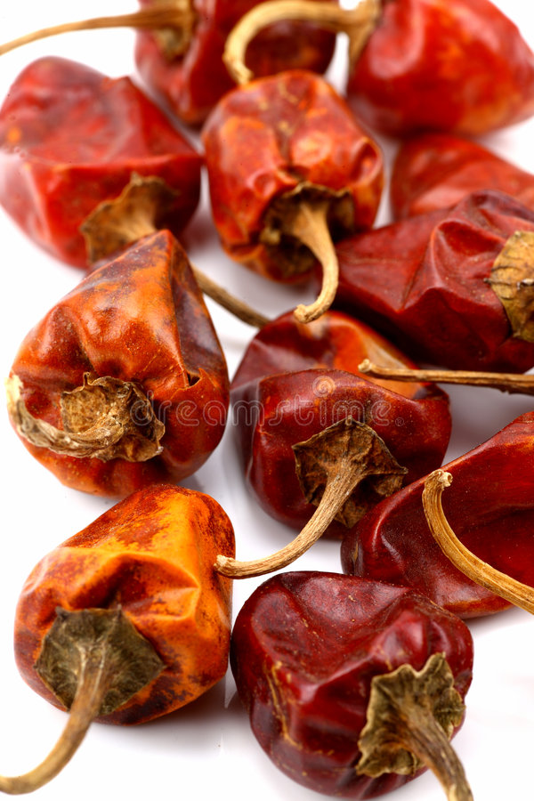 Red dry chilies royalty free stock photography