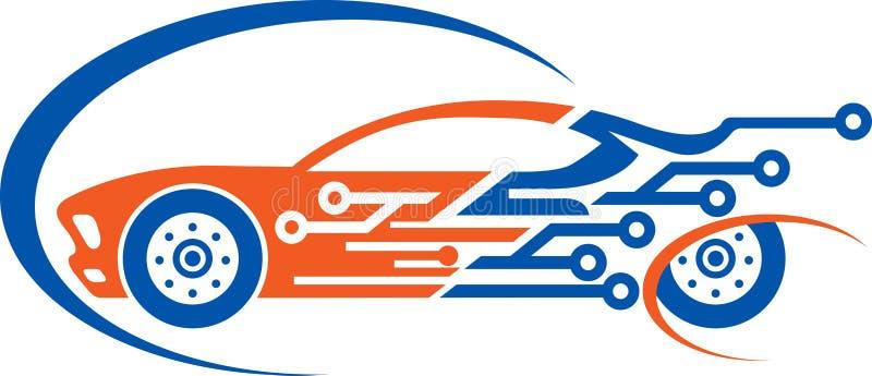 Car circuit logo stock illustration