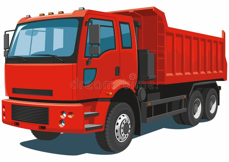 Red dump truck royalty free stock image
