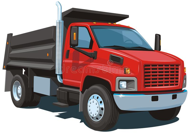 Red dump truck stock image