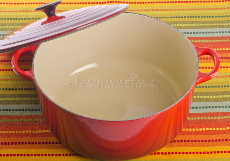 Red Dutch Oven stock photography