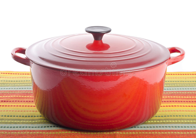 Red Dutch Oven Stock Photos