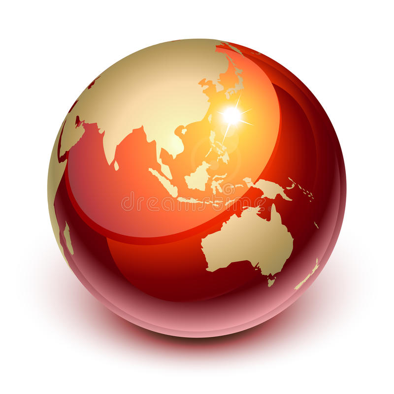 Download Red earth stock vector. Image of worldwide, glossy, asia - 16240207