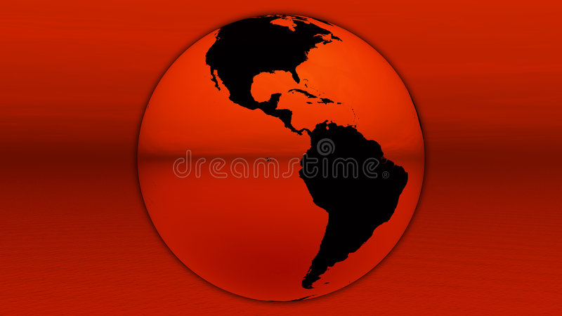 Download Red earth on horizon stock illustration. Image of geography - 8384300