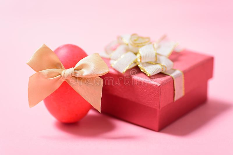 Red easter egg and gift box stock image image of spring design download red easter egg and gift box stock image image of spring design negle Choice Image