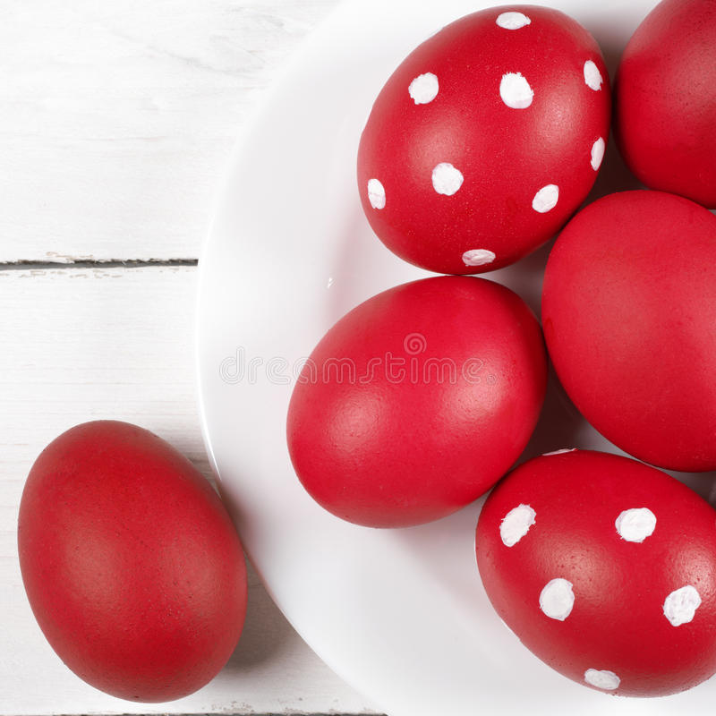 Charming Download Red Easter Eggs In Plate Stock Image. Image Of Homemade   66503511