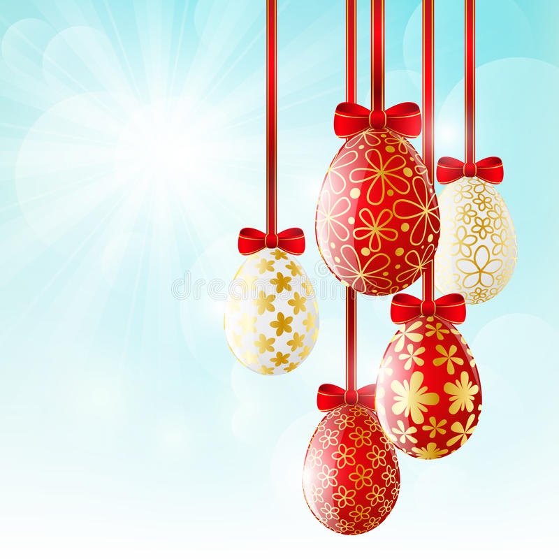Red Easter eggs royalty free illustration