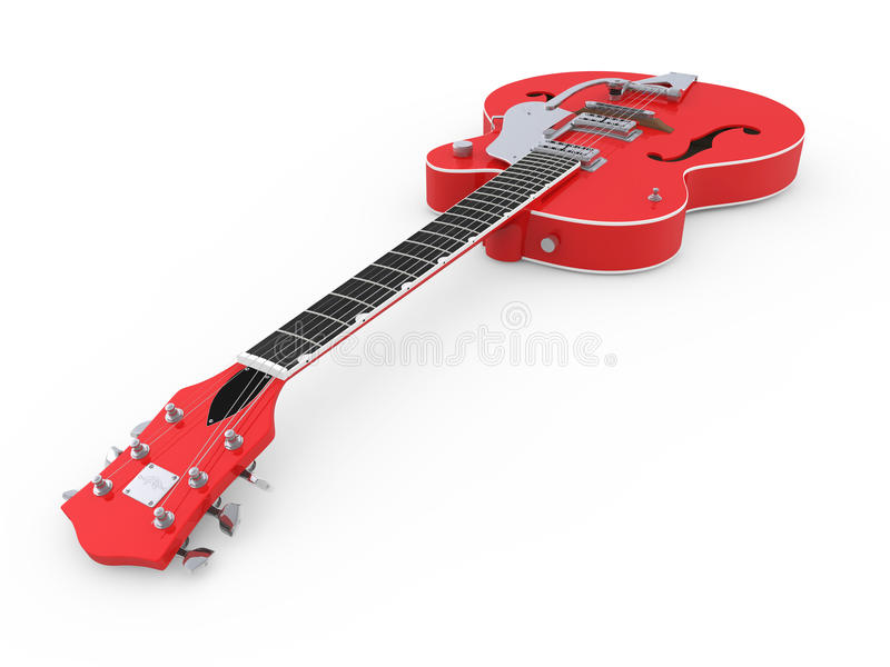 Red electric guitar stock illustration