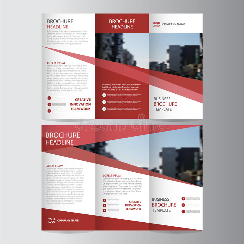 Red elegance business trifold business leaflet brochure flyer download red elegance business trifold business leaflet brochure flyer template vector minimal stock vector illustration wajeb Gallery
