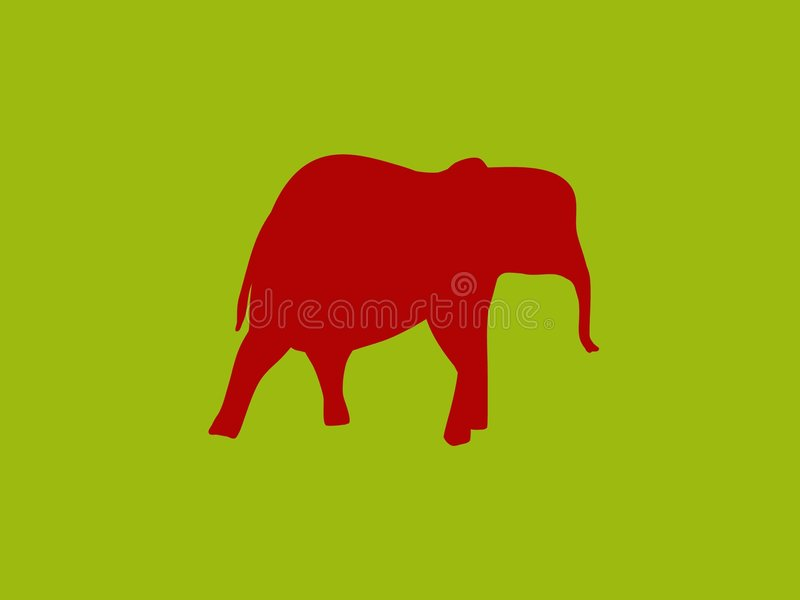Download Red elephant stock illustration. Image of graphics, green - 4615544