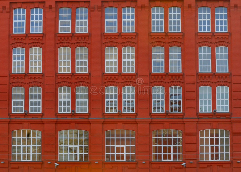 Red Elevation Of Building Stock Photography