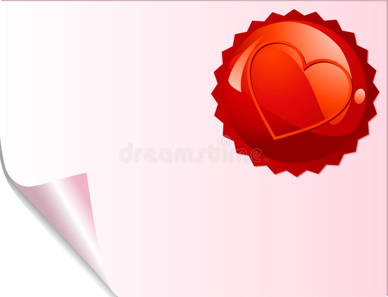 Red Emblem Page Royalty Free Stock Photography