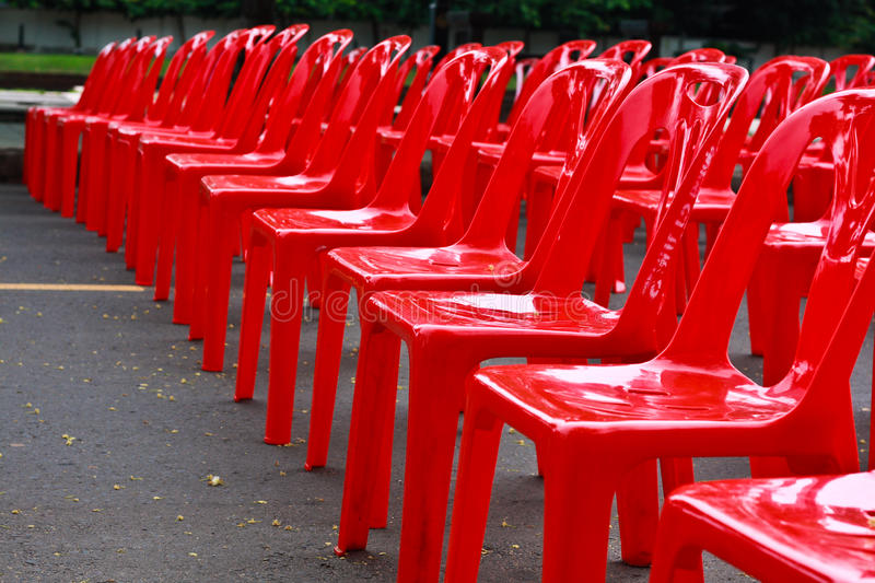 Red Empty Chairs