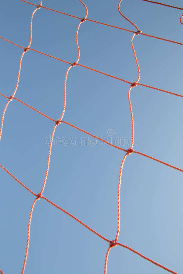 Red En Marco De Puerta Del Fútbol Foto de archivo - Imagen de azul ...