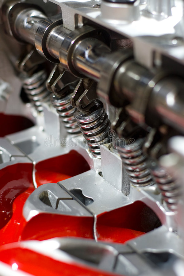 Red engine royalty free stock photography