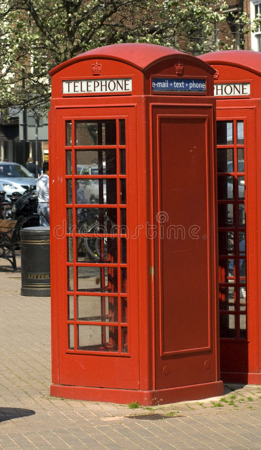 Download Red English Telephone Boxes Stock Image - Image: 5096825
