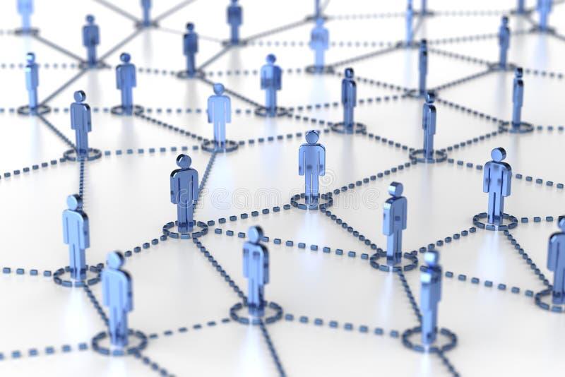 Red, establecimiento de una red, conexión, redes sociales, Internet, comm ilustración del vector