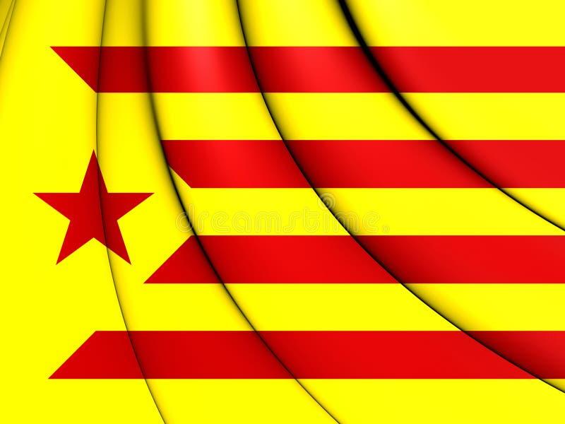 Red Estelada Flag, Catalonia. stock illustration