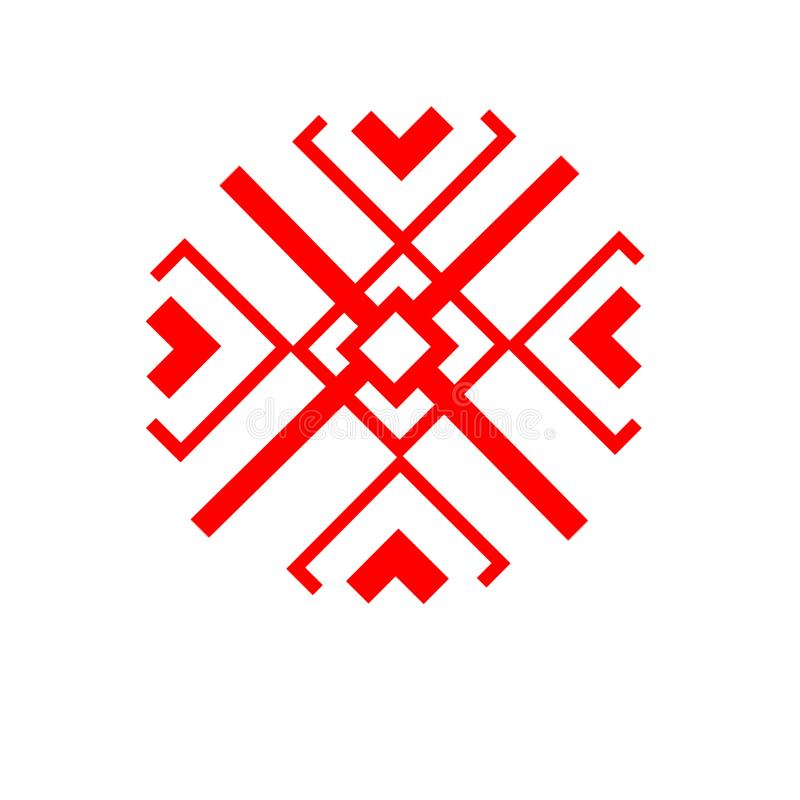 The ethnic element of the Slavic pattern on a white backgrou stock images