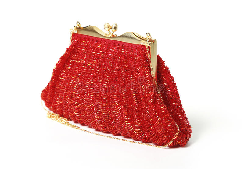 Red evening bag stock images