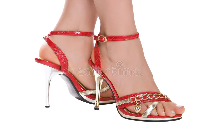 Download Red evening sandals stock image. Image of perfection, desire - 7145619