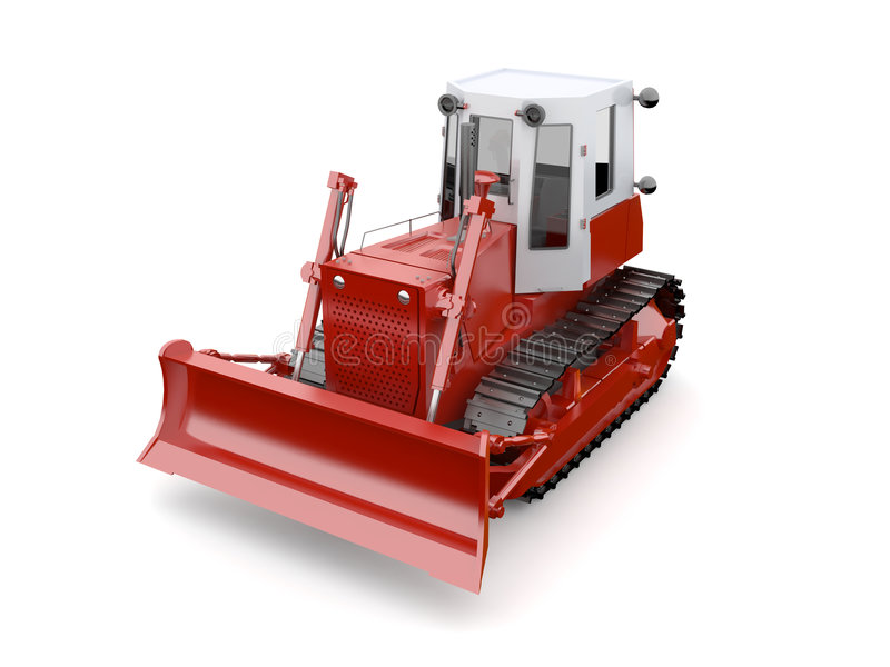 Red excavator stock illustration