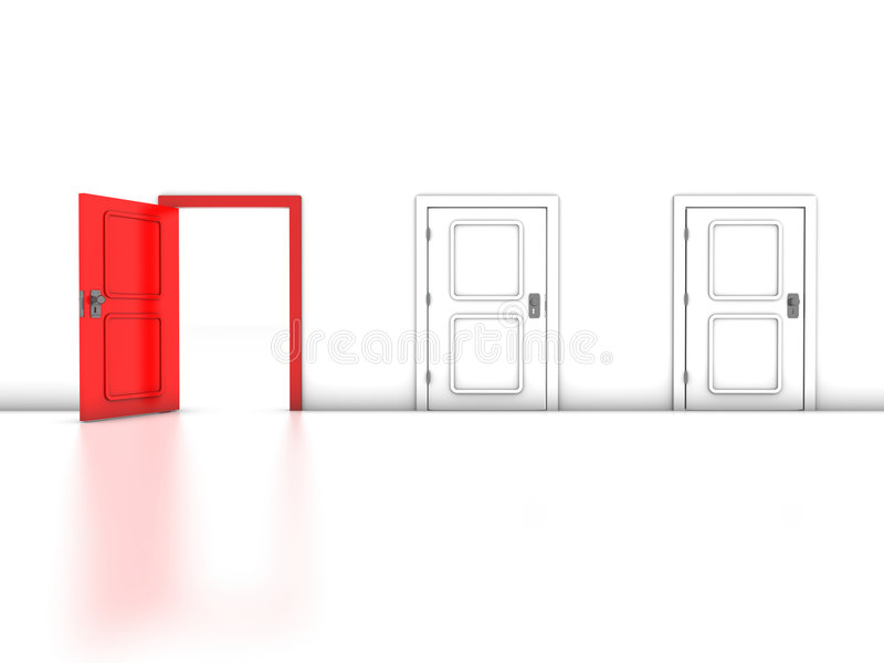 Red Exit royalty free illustration