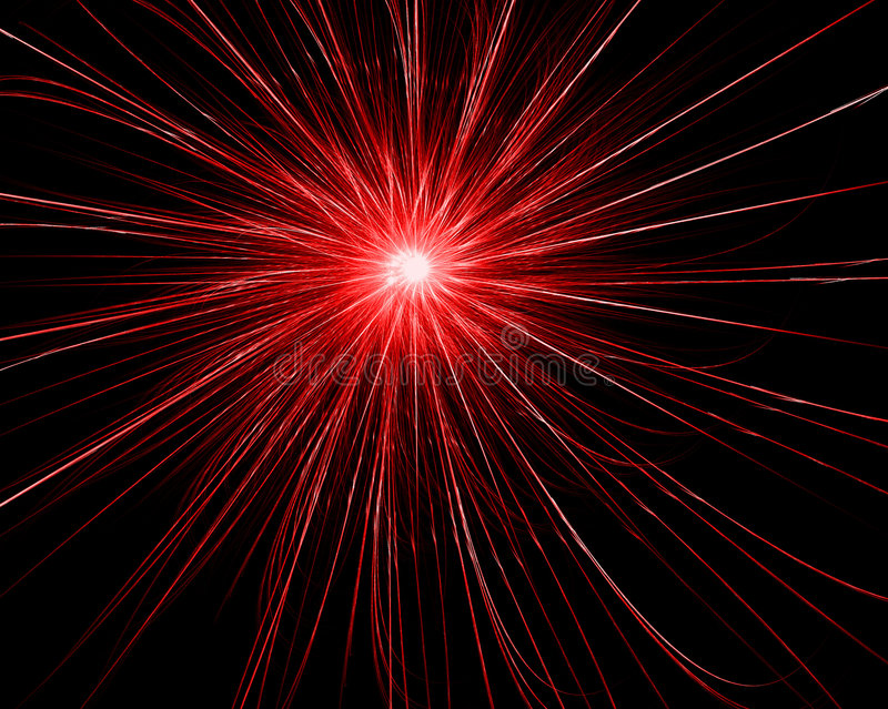 Red explosion vector illustration
