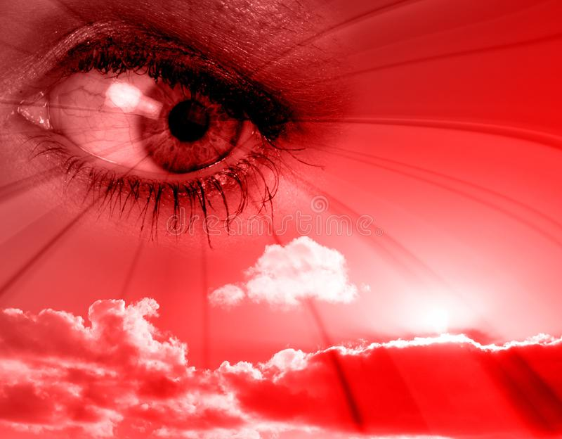 Red eye royalty free stock photo