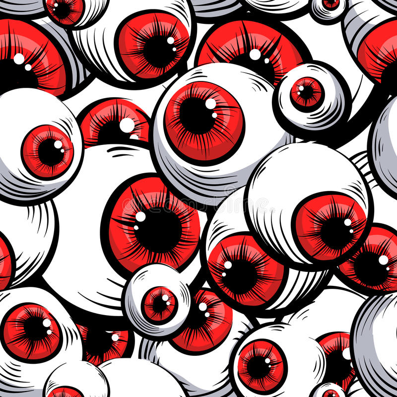 Red eyes. Seamless pattern. royalty free illustration