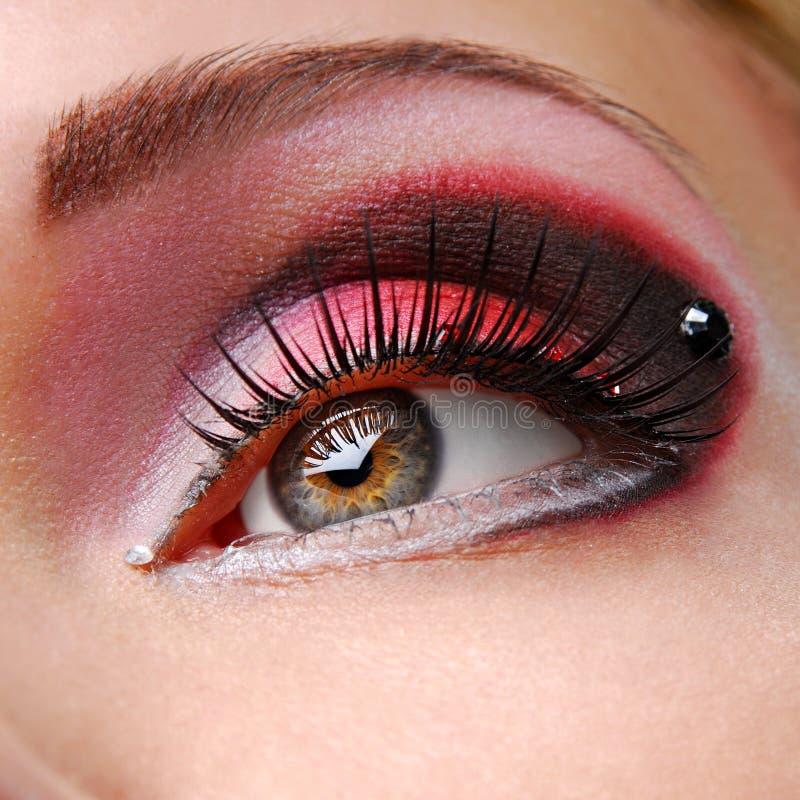 Red eyeshadow royalty free stock photos