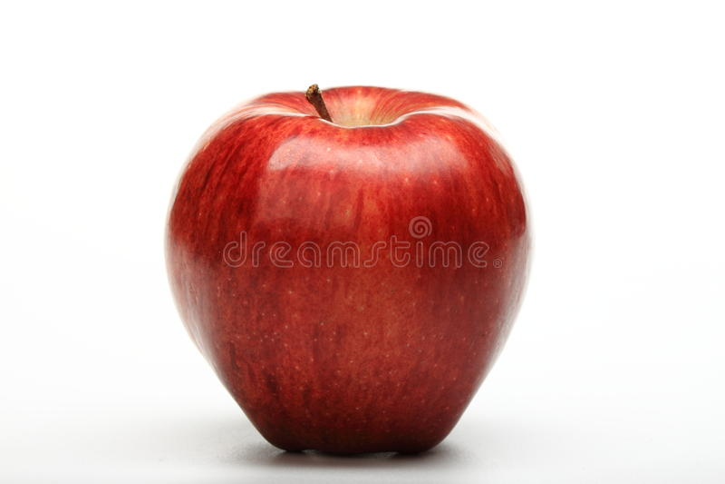 red för äpple ett fotografering för bildbyråer