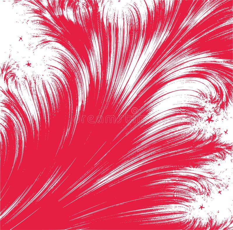 red för abstarctbakgrundsfjäder royaltyfri illustrationer