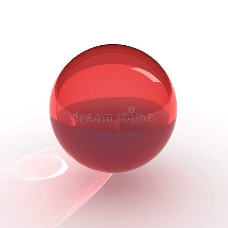 red för boll 3d royaltyfri illustrationer