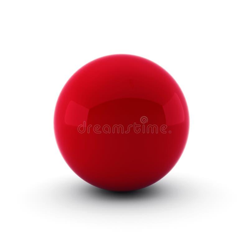 red för bollen 3d framför white stock illustrationer