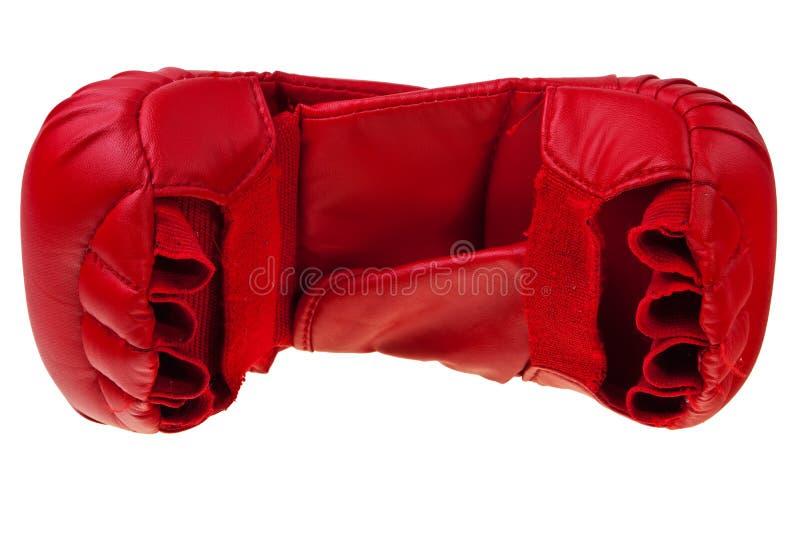 red för boxninghandskekarate arkivfoto