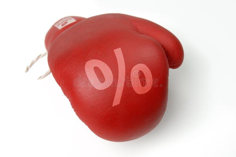 red för boxninghandskeprocent royaltyfria foton
