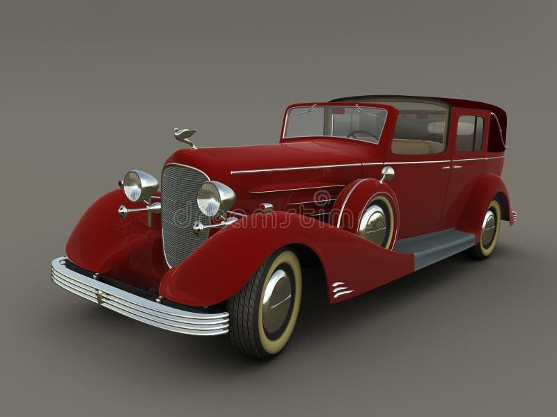red för diagram för bil 3d gammal royaltyfri illustrationer