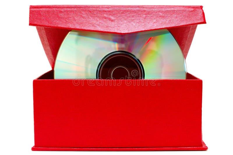 red för dvd för kompakt disk för askpapp cd arkivbild